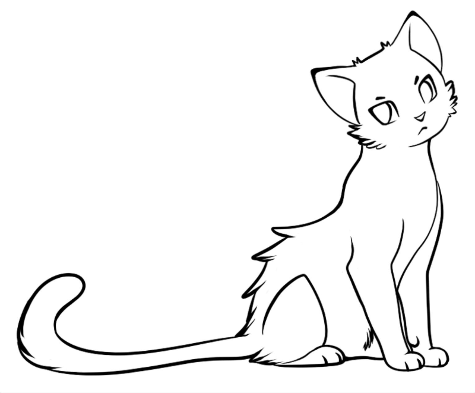 Template Cat Coloring Page Animal Coloring Pages Warrior Cat