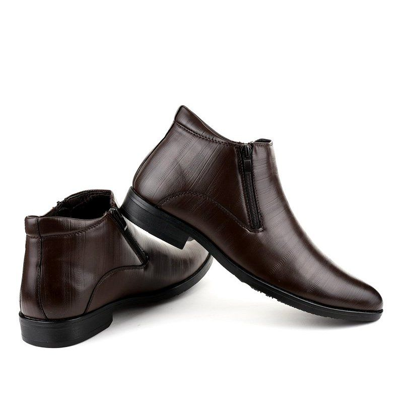Brazowe Polbuty Ocieplane Hl1002 3 Shoes Dress Shoes Men Shoes Mens