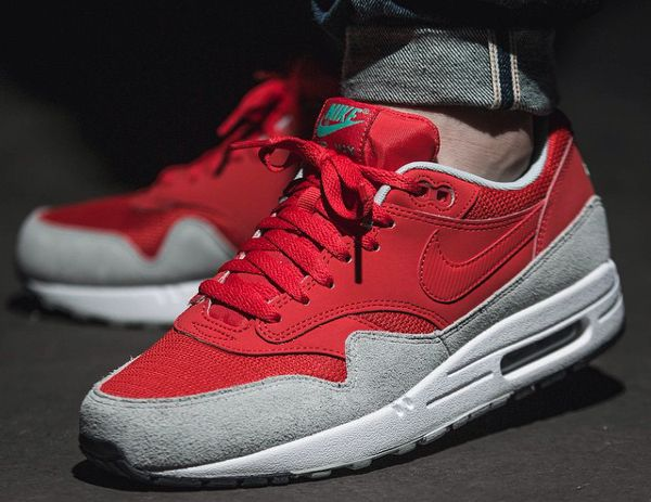 Nike Air Max 1 Essential (Daring Red/Grey Mist) - http://sorihe.com ...