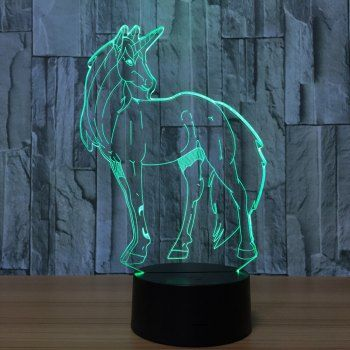 3d Unicorn Shape Led Color Changing Night Light Decorative Night Lights Color Changing Led 3d Led Night Light