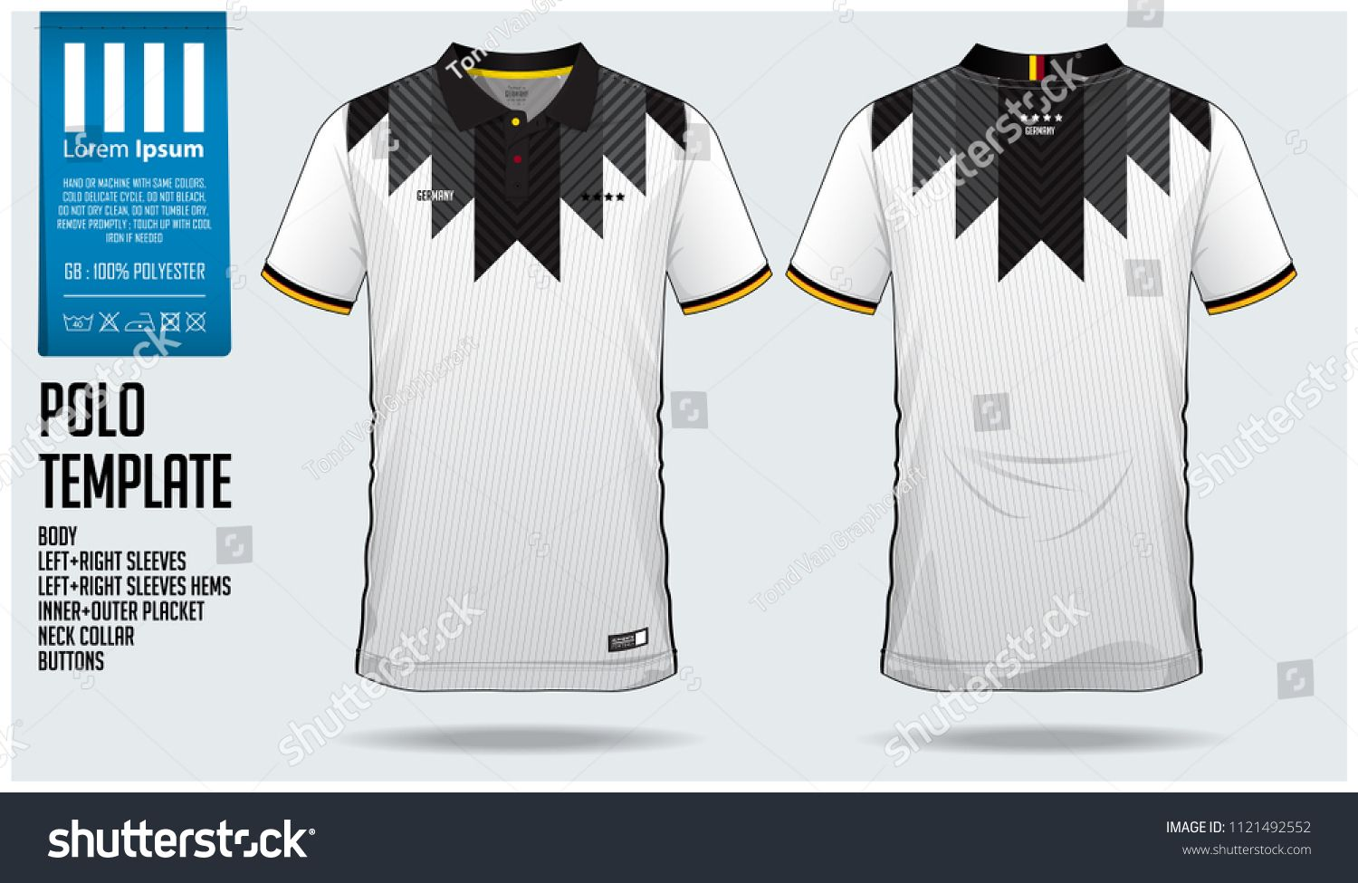 f5952e396 Germany Team Polo t-shirt sport template design for soccer jersey ...