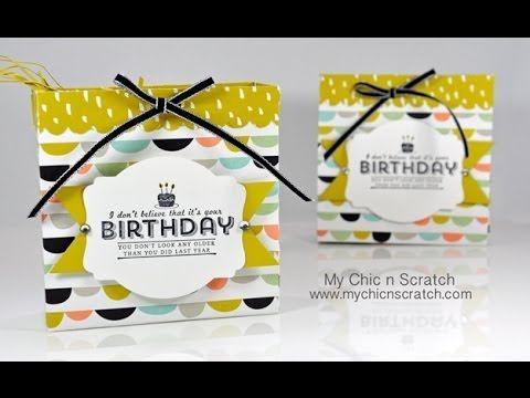▶Make ahead small box lays flat  Sweet Sorbet Birthday Box - YouTube