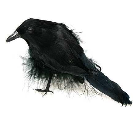 Small Standing Artificial Crow Artificial Birds Spooky Halloween Decorations Halloween
