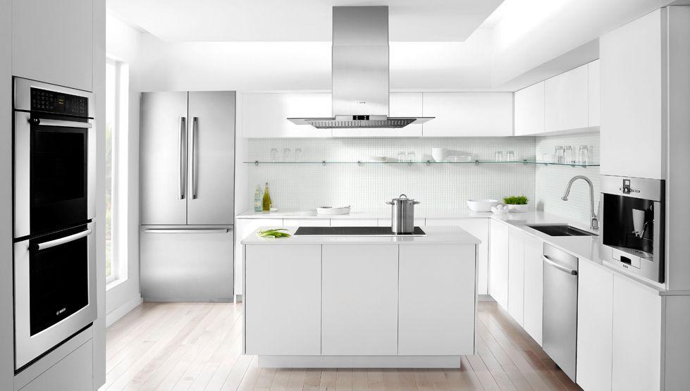 The Modern Gourmet Kitchen Bosch Home Appliances White