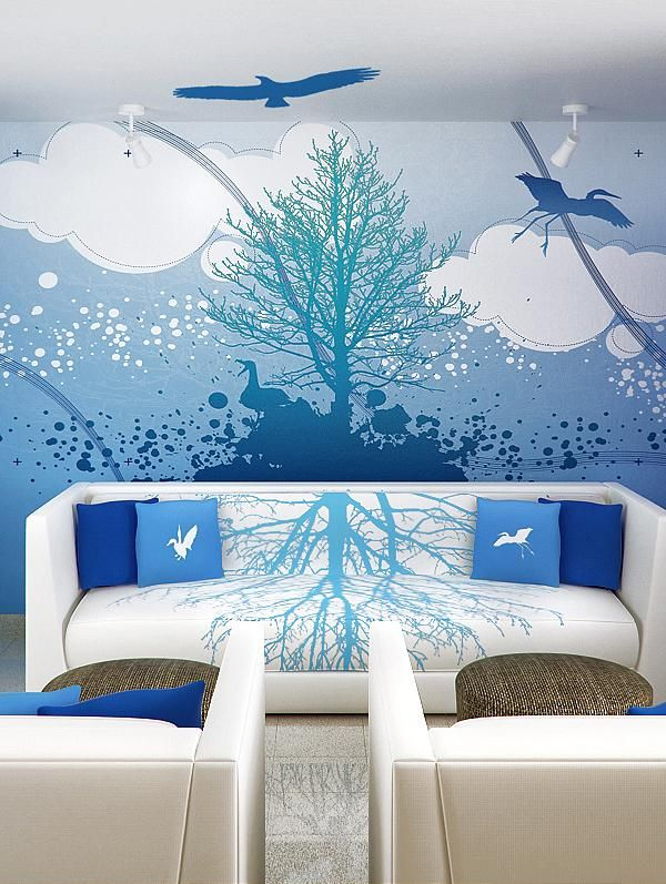 Http Homesickdesigns Blue Sky And Cloud Wall Mural Interior Theme Decoration By Jorge Aguilar