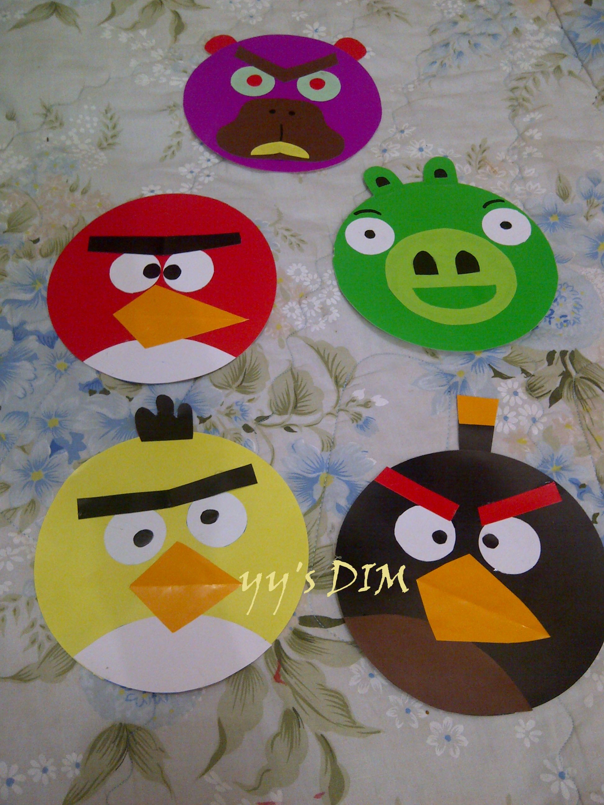 From Old Cd Become Angry Birdcover With Origami Paper Then