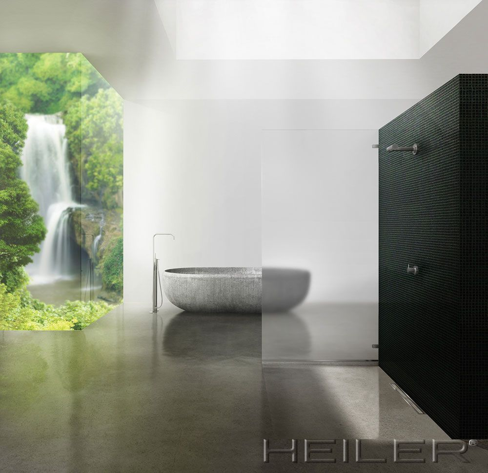 Barrierefreie Dusche mit Duschrinne | Duschkabinen | Pinterest | Bath