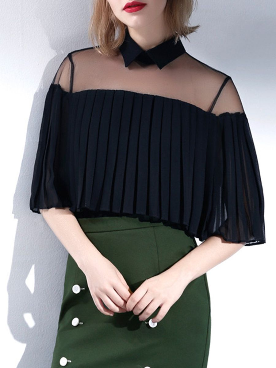 Blouse with a frill - dress for real queens