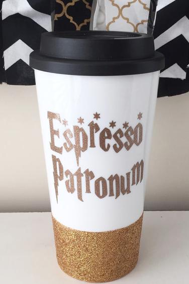 Espresso Patronum Travel Mug Harry Potter Mug Harry Potter Harry Potter Cup Bricolaje Harry Potter Harry Potter Fiesta Tazas De Harry Potter