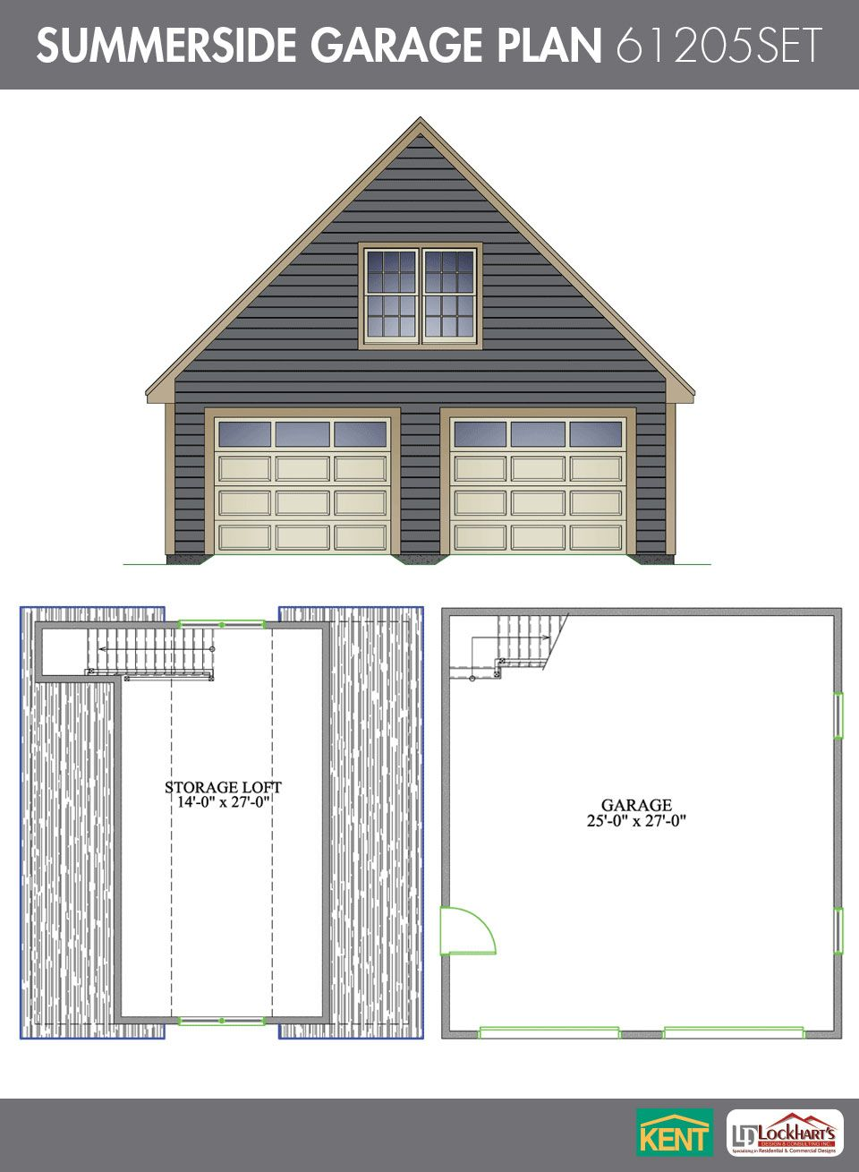 Summerside garage plan 26 39 x 28 39 2 car garage 378 sq for 20 x 24 garage plans with loft