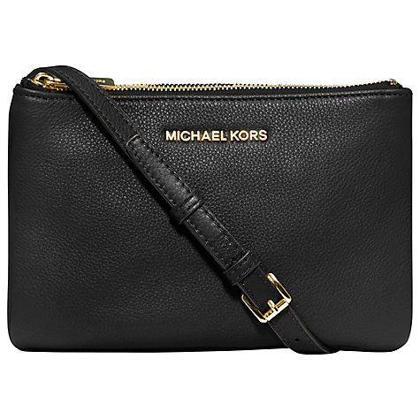 Buy MICHAEL Michael Kors Bedford Triple Gusset Leather Across Body Handbag Online at johnlewis.com