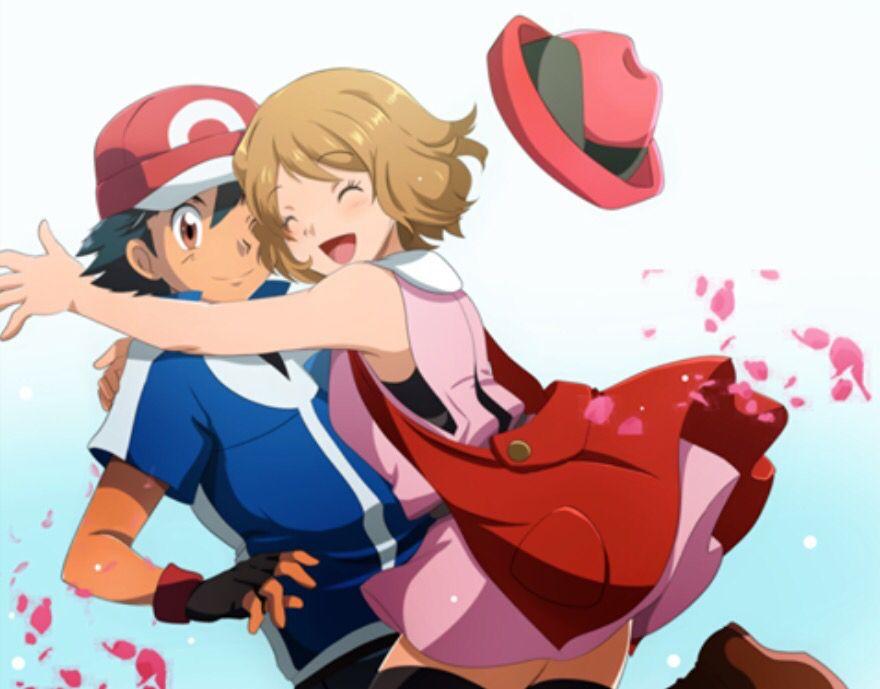 Pokemon XYZ anime ash/Satoshi and Serena Amourshipping #satosere