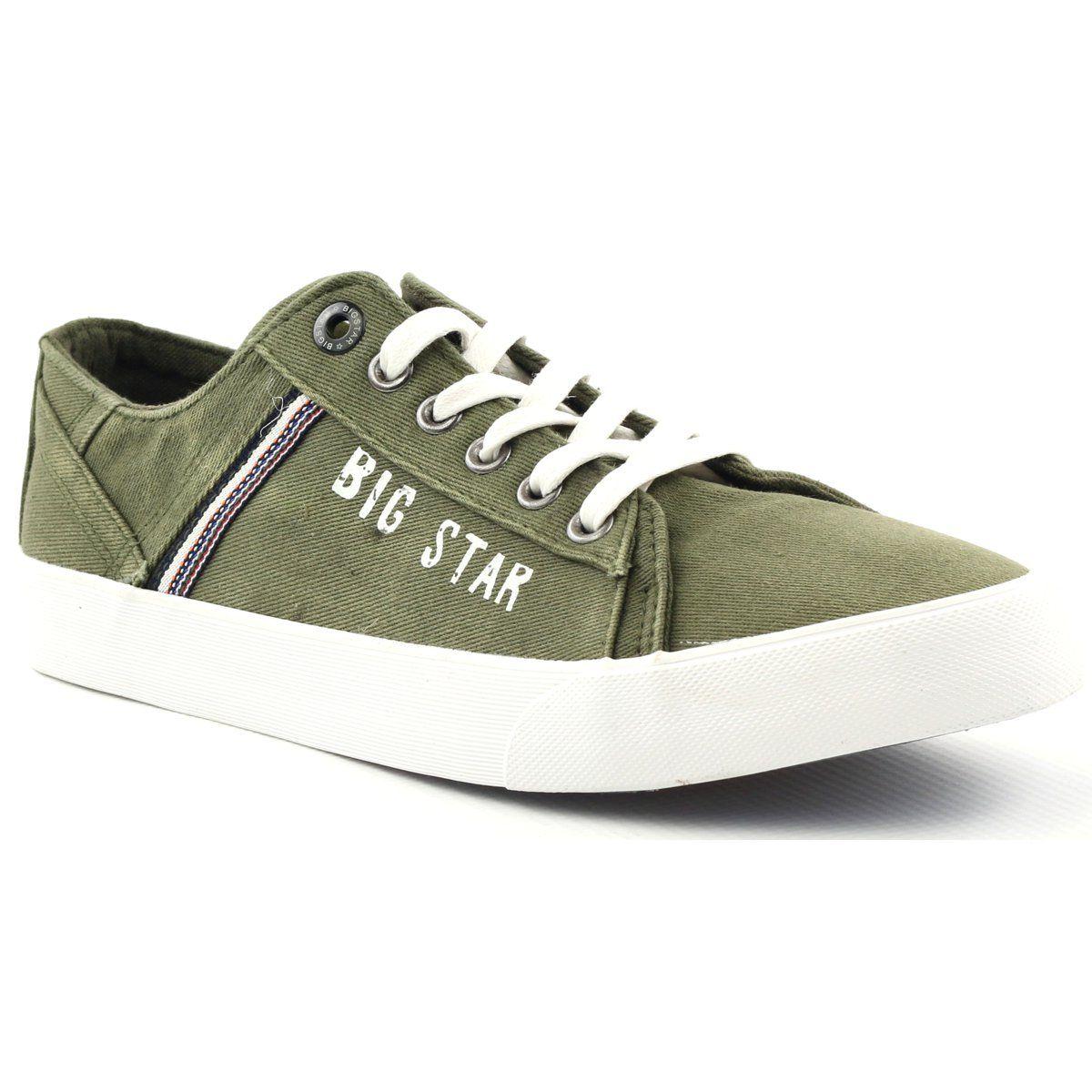 Trampki Tenisowki Big Star 174315 Jeans Khaki Zielone Sneakers Sneakers Men Star Shoes