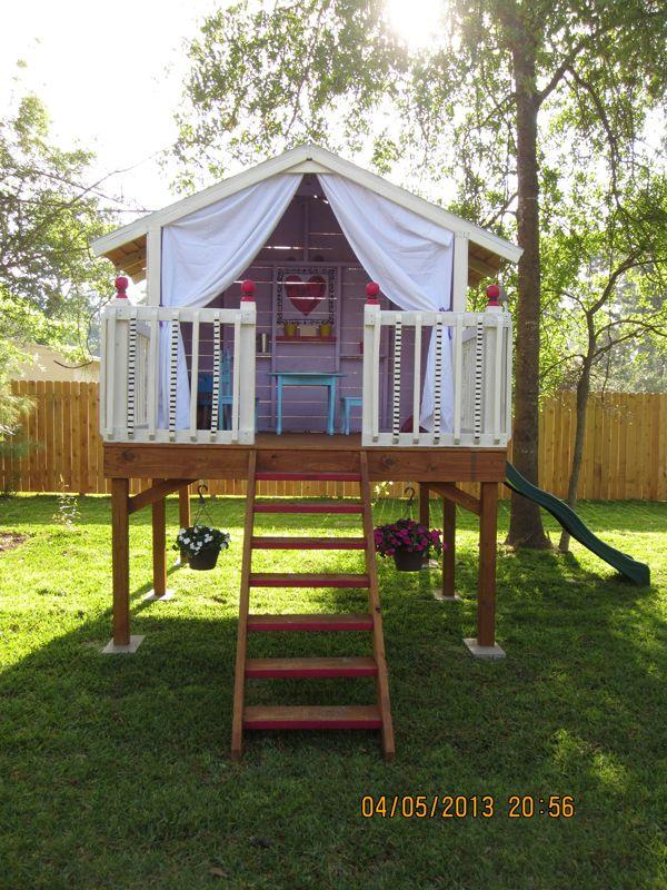 Handmade Hide Away Go Outside Play Houses Backyard House