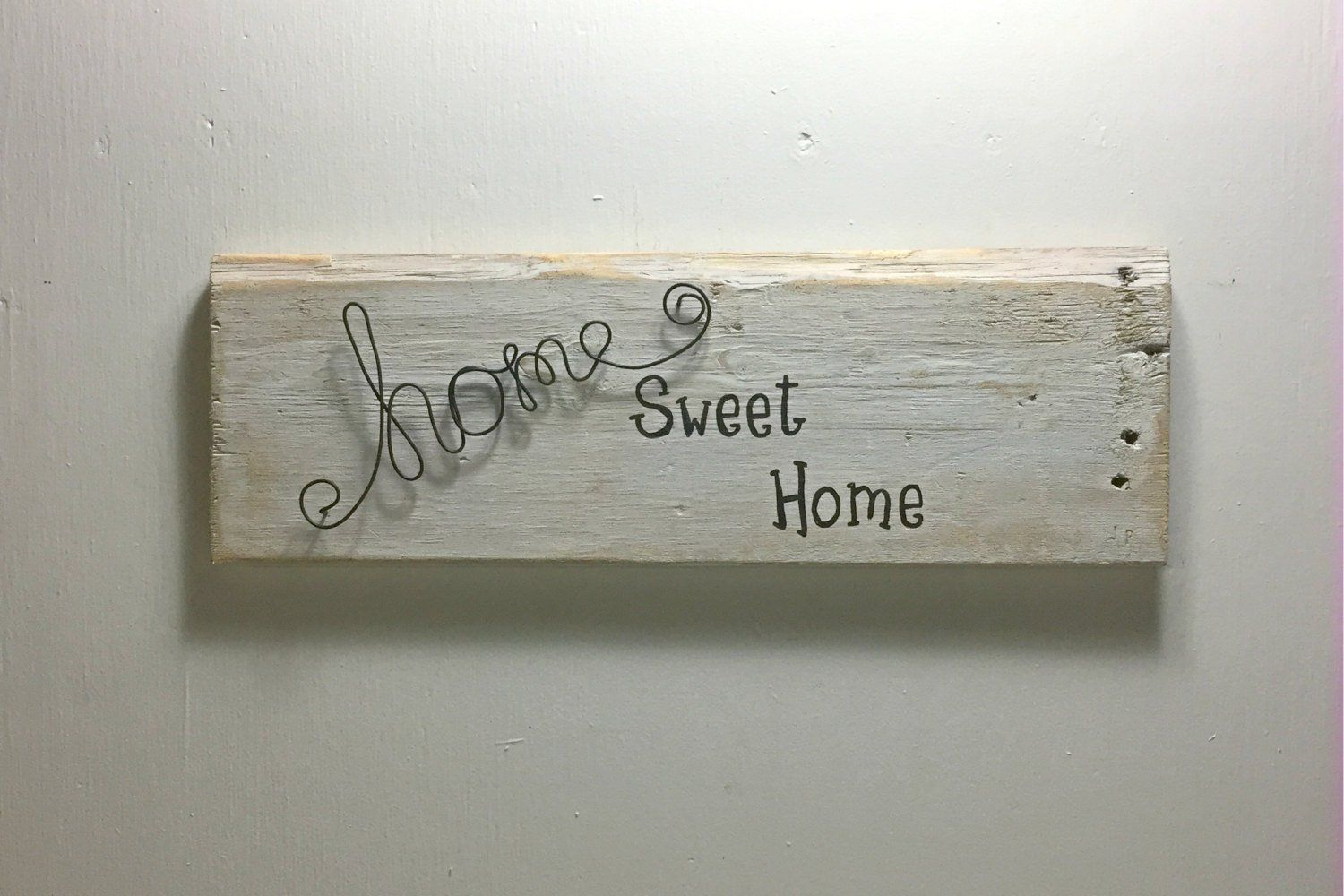 Home Sweet Home Wood And Wire Sign Wood And Wire Decor Etsy Wire Sign Sweet Home Decor