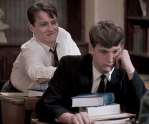 Knox and Charlie — Dead Poets Society, 1989. on We Heart It