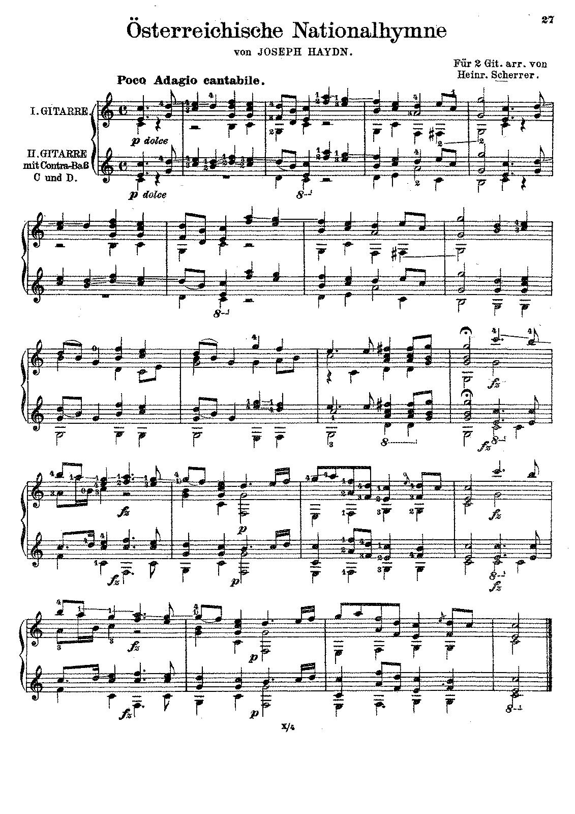 File:PMLP94366-Scherrer - Osterreische Nationalhymne.pdf | Music ...