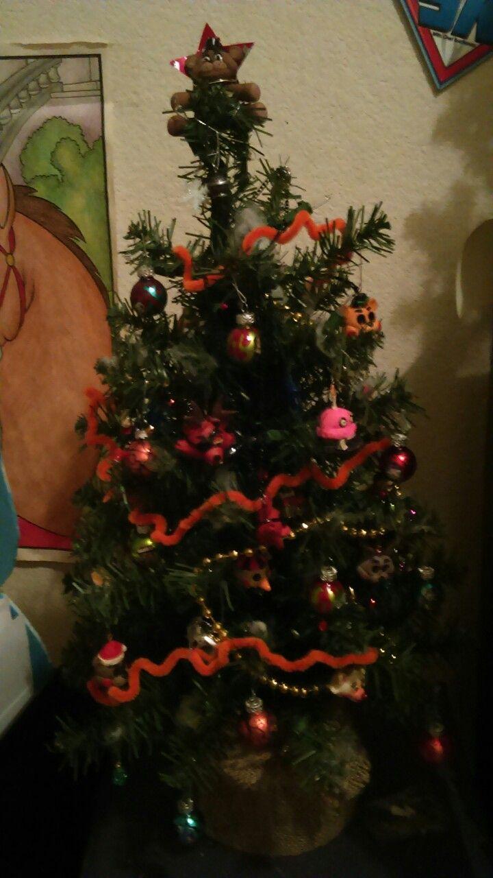 Fnaf Christmas.Fnaf Christmas Tree Fnaf Party Christmas Tree Christmas
