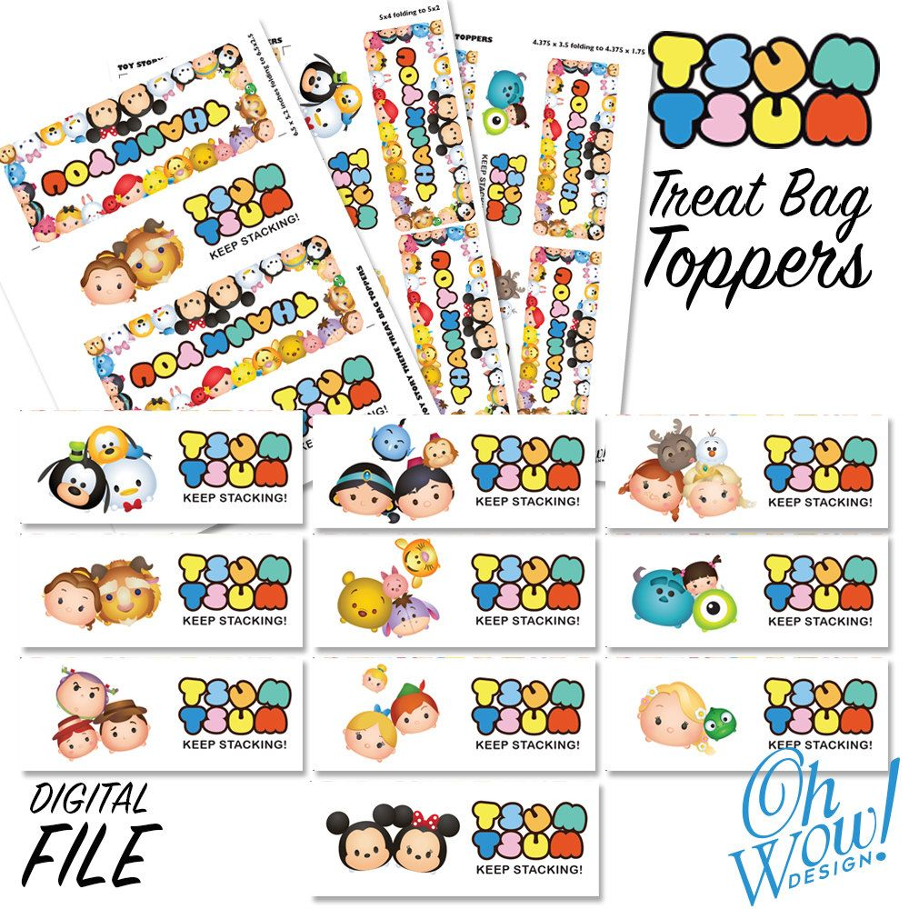 D Artiste Character Design Pdf Free Download : Toy story tsum character treat bag toppers digital
