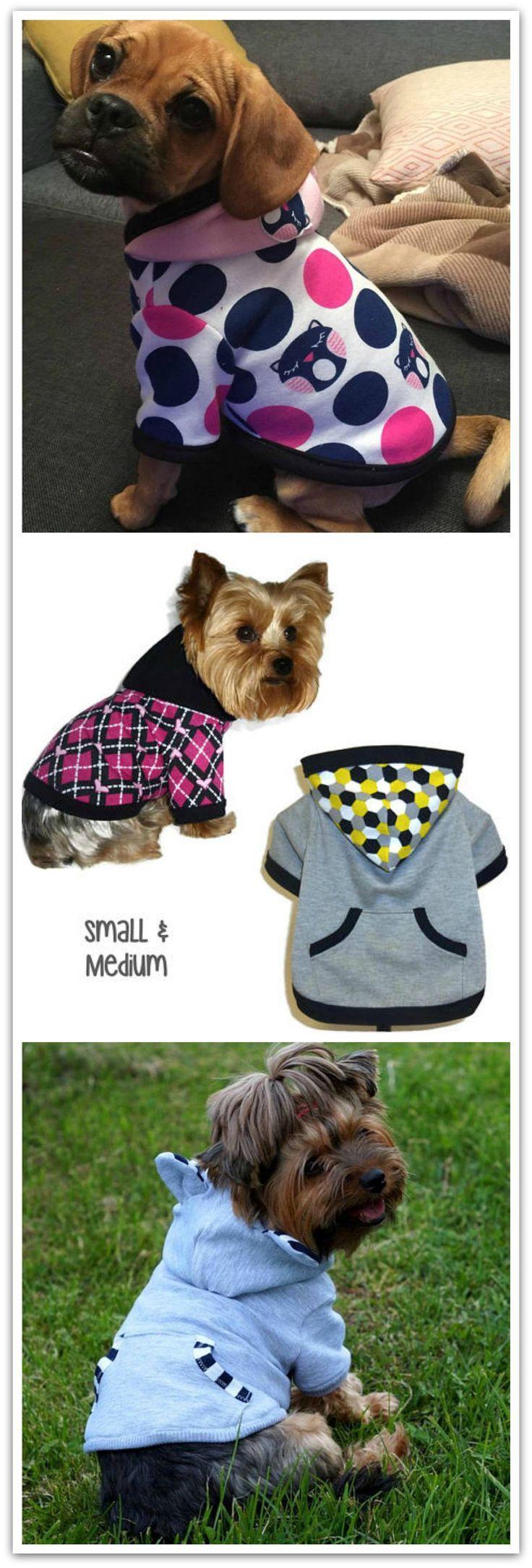 Dog hoodie pattern 1761 small medium dog clothes sewing dog hoodie pattern 1761 small medium dog clothes sewing pattern dog jacket jeuxipadfo Image collections