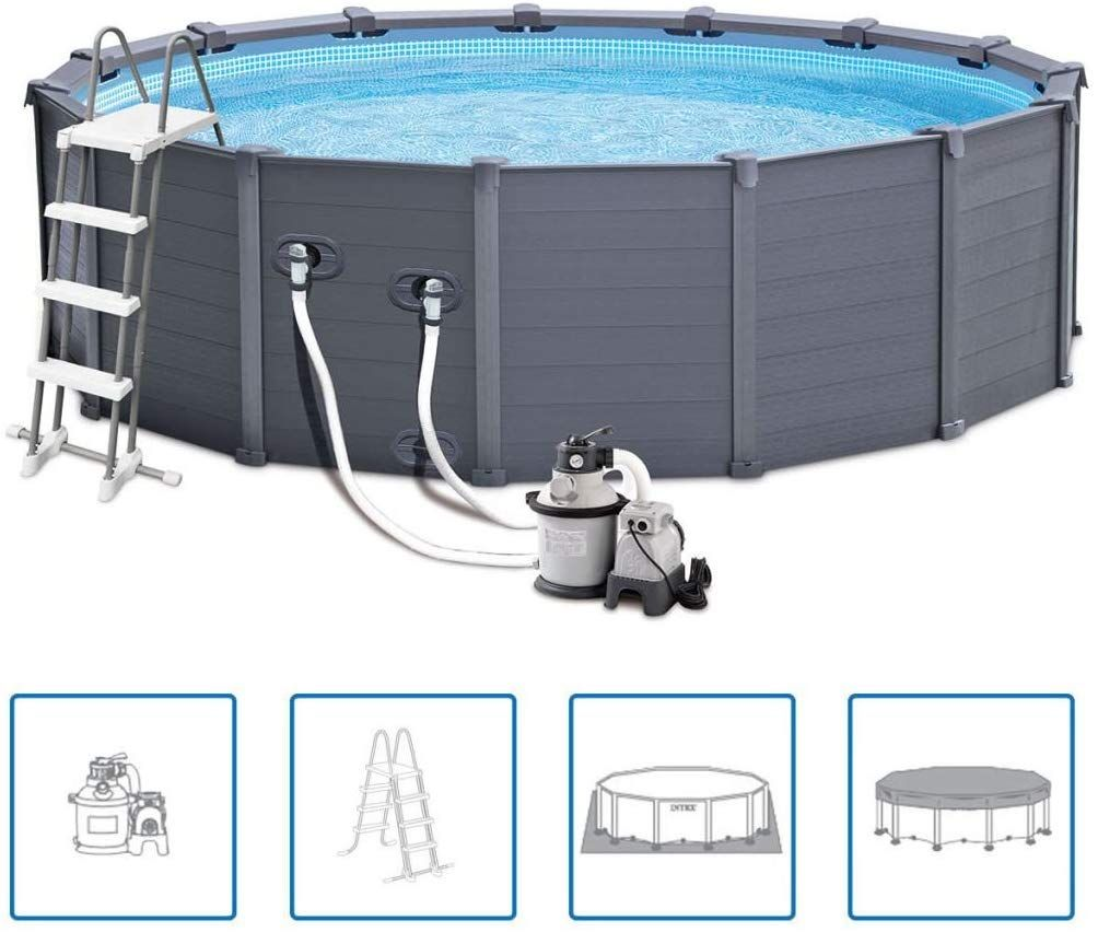 Pool Komplettset Amazon Intex 12353 Graphite Panel Pool 478x124cm Amazon De