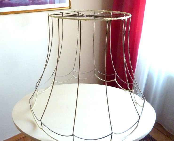 Altes xxl lampenschirm gestell anno von haloha vintage