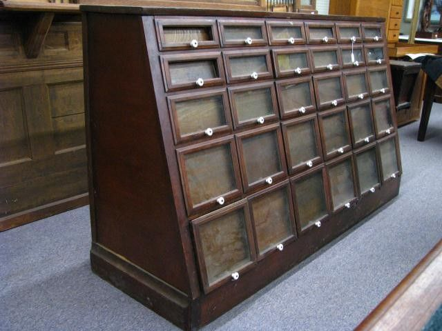 292: Antique General Store Seed Cabinet on