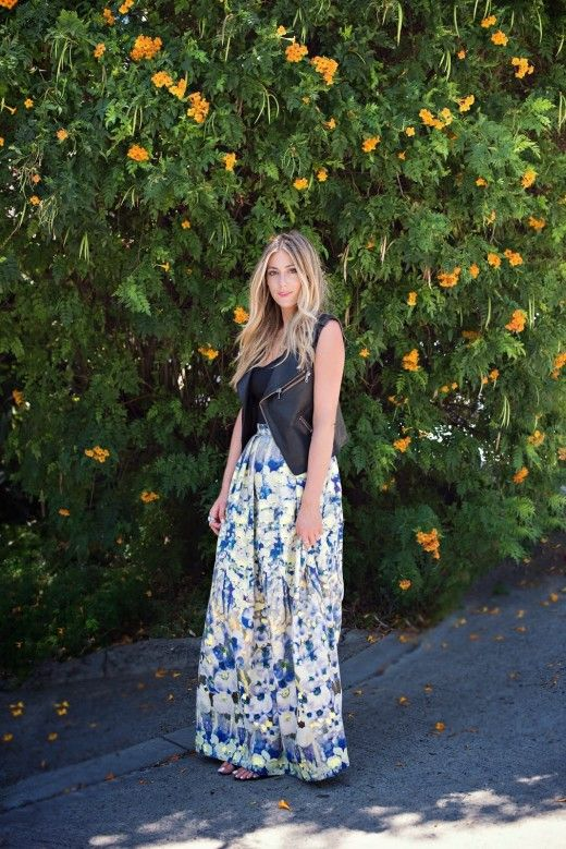 Devon Rachel: The Floral Maxi Skirt