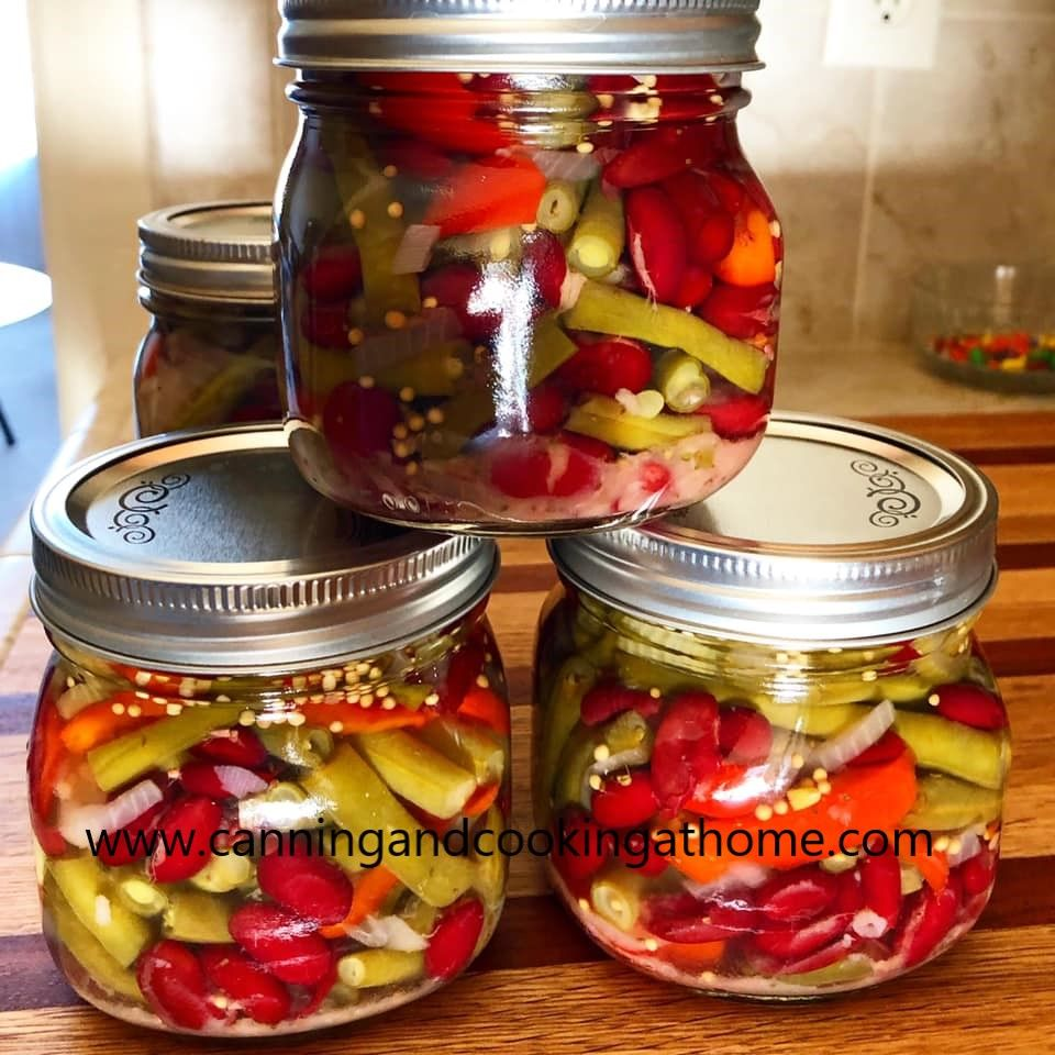 Diane S Two Bean Salad In 2020 Pressure Canning Green Beans Bean Salad Canning Beans