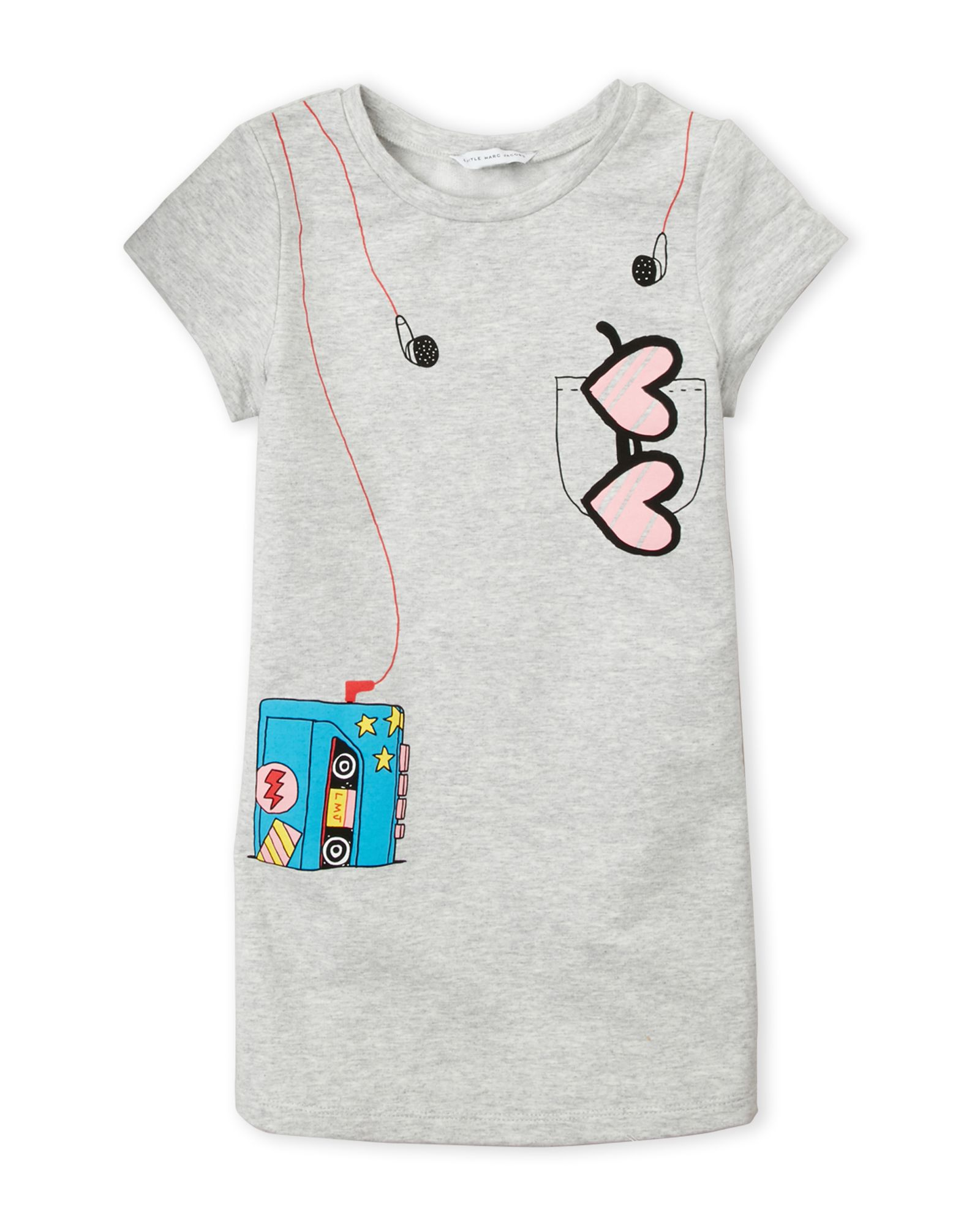 85dcfd7e2bc7 Girls 4-6x) Grey Headphones T-Shirt Dress in 2019 | *Apparel ...