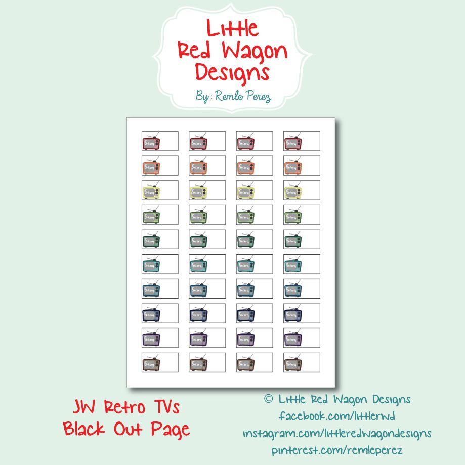 JW Retro TVs Planner Stickers - Happy Planner | My Stuff