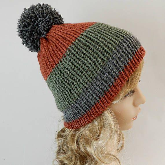 f165a2ecb64 Winter beanie women men Knit beanie hat Pom pom beanie women ...