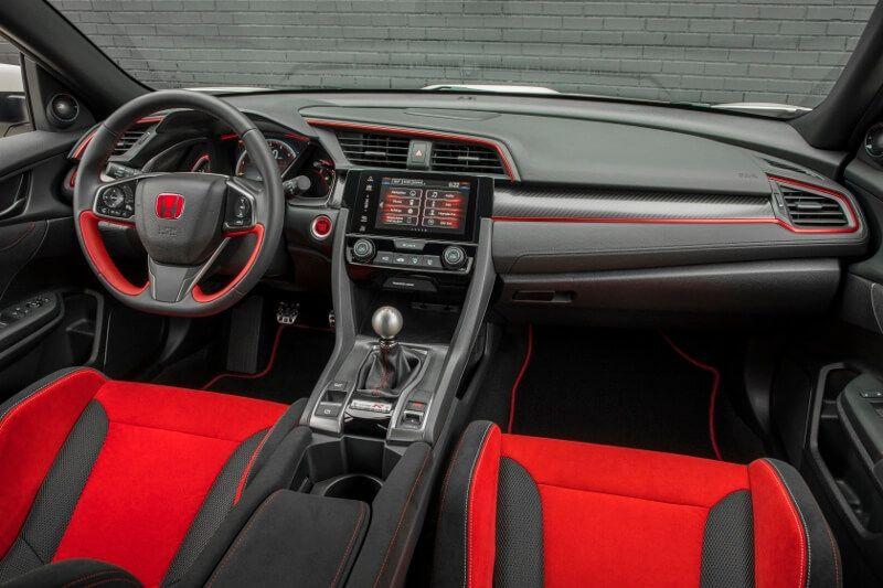2017 2018 Honda Civic Type R Interior Inside Cabin Pictures Fk8 Hatchback Ctr Turbo Honda Civic Honda Civic Car Honda Civic Type R