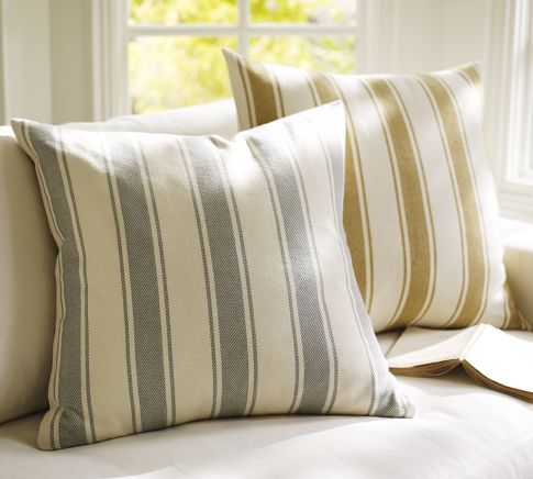 Pillow option 1 Chunky Stripe Pillow Cover Pottery Barn p a t t y Pinterest Throw ...
