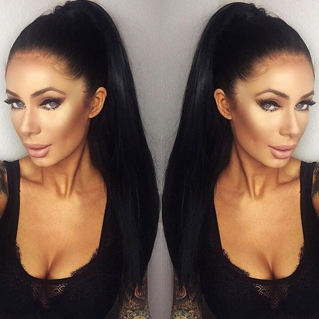 BELLAMI Hair wrap ponytail! YES.. and can we talk about her highlighting  and contouring.Gorgeous 423be941e