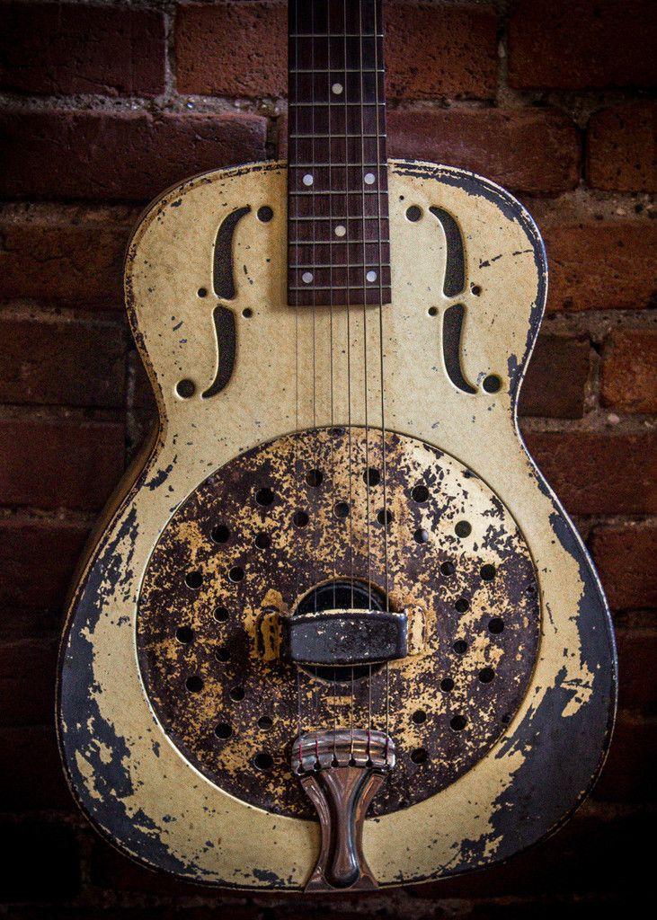 Old Resonator Guitar