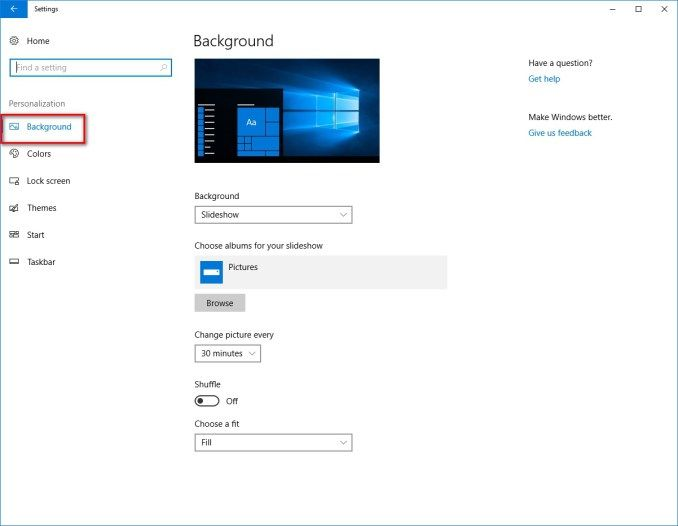 Wallpaper Settings Windows 10 Change Picture Windows Change Image