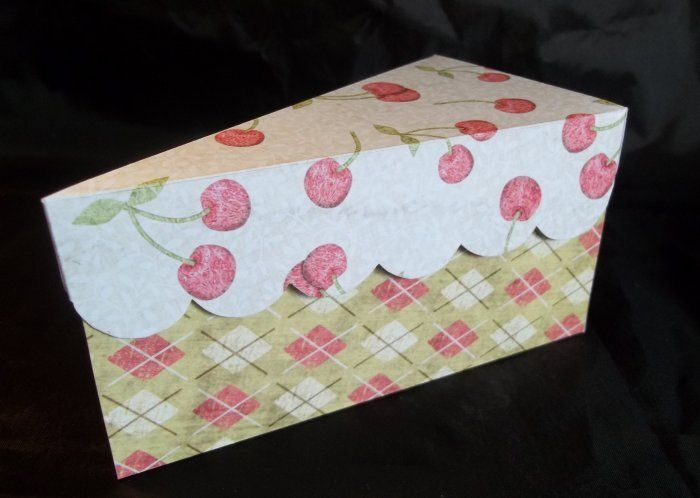 Printable Cake Slice Box Templatethese Are Really Cute