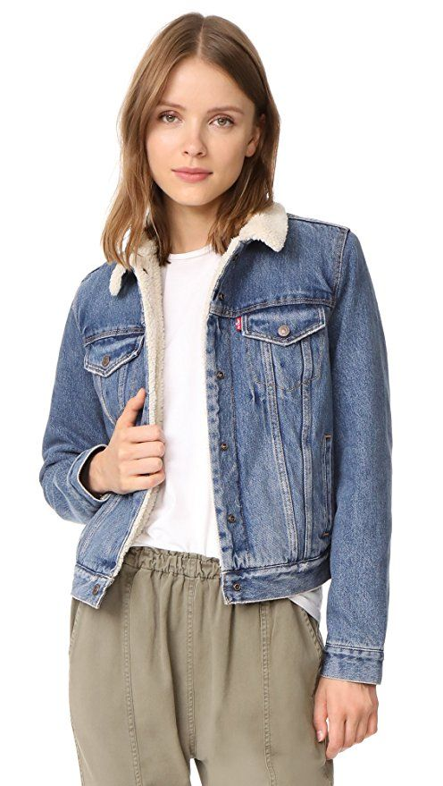 121f2bb8 Levi's Women's Original Sherpa Trucker Jacket, Extremely Lovable, Large