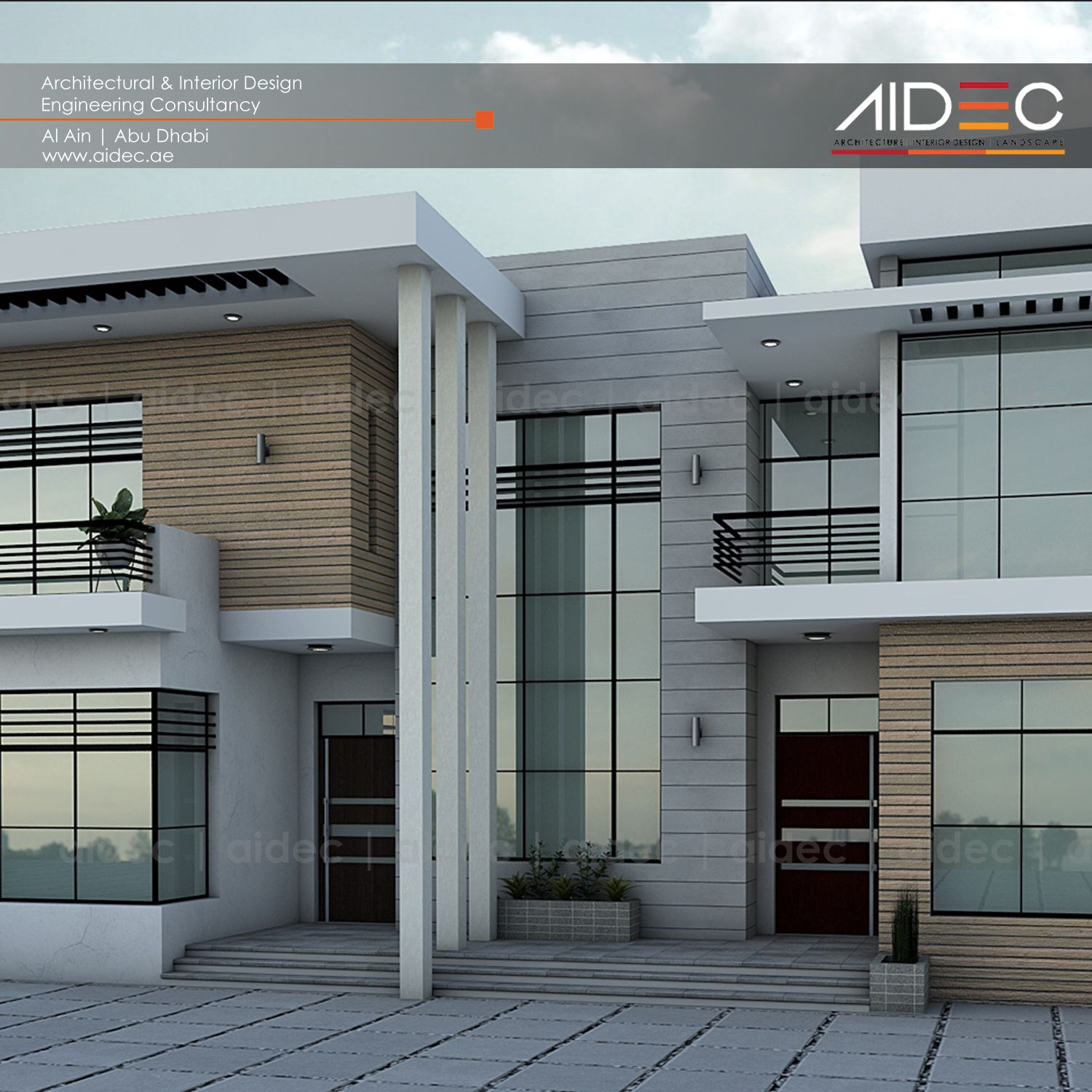 Proposed residential villa location al ain description for Modern house uae