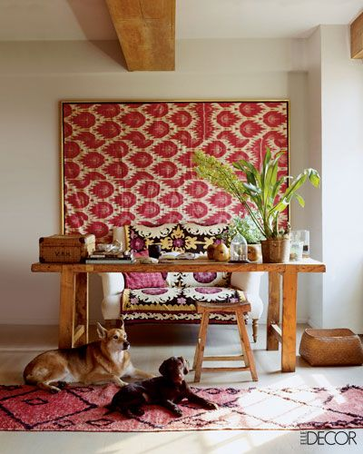 no-sew fabric textile art piece