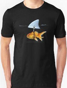 aacbcea6 Goldfish Wearing A Shark Fin T-Shirt | all other | Shark fin, Shark ...