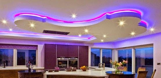 LED false ceiling lights for living room, LED strip lighting ideas in the  interior - LED False Ceiling Lights For Living Room, LED Strip Lighting Ideas