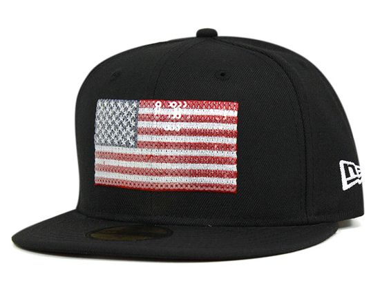 51c9dab2f109 ... coupon sequined usa flag 59fifty fitted cap by onspotz x new era 38d9e  3382f