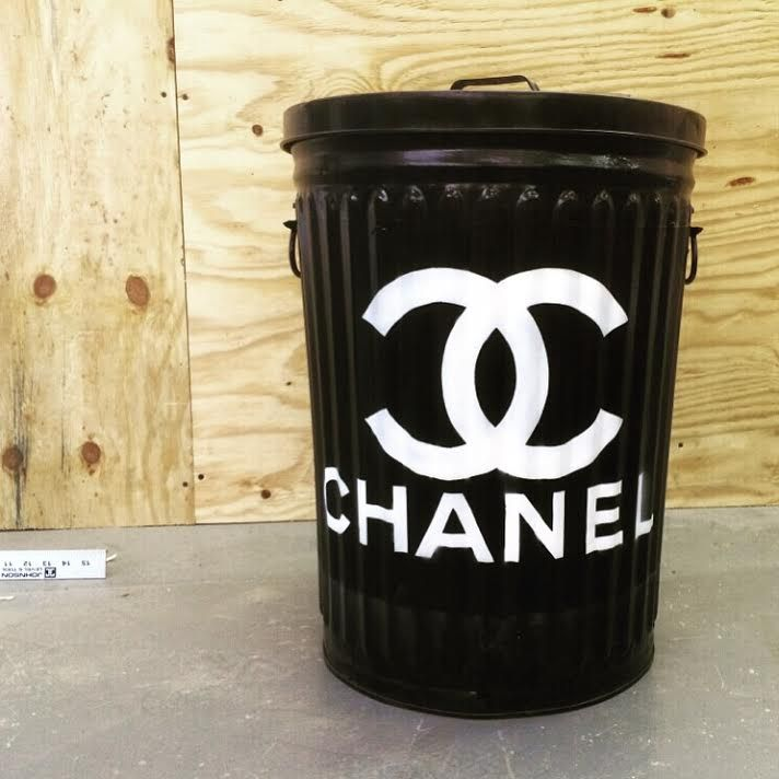 Custom Chanel Trash Can by Humphrey Industries x Plutonium™ Paint // #SprayPaint…