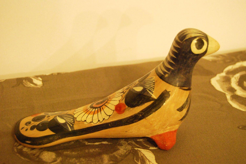 Vintage Mexican pottery bird (multicolored). $12.00, via Etsy.
