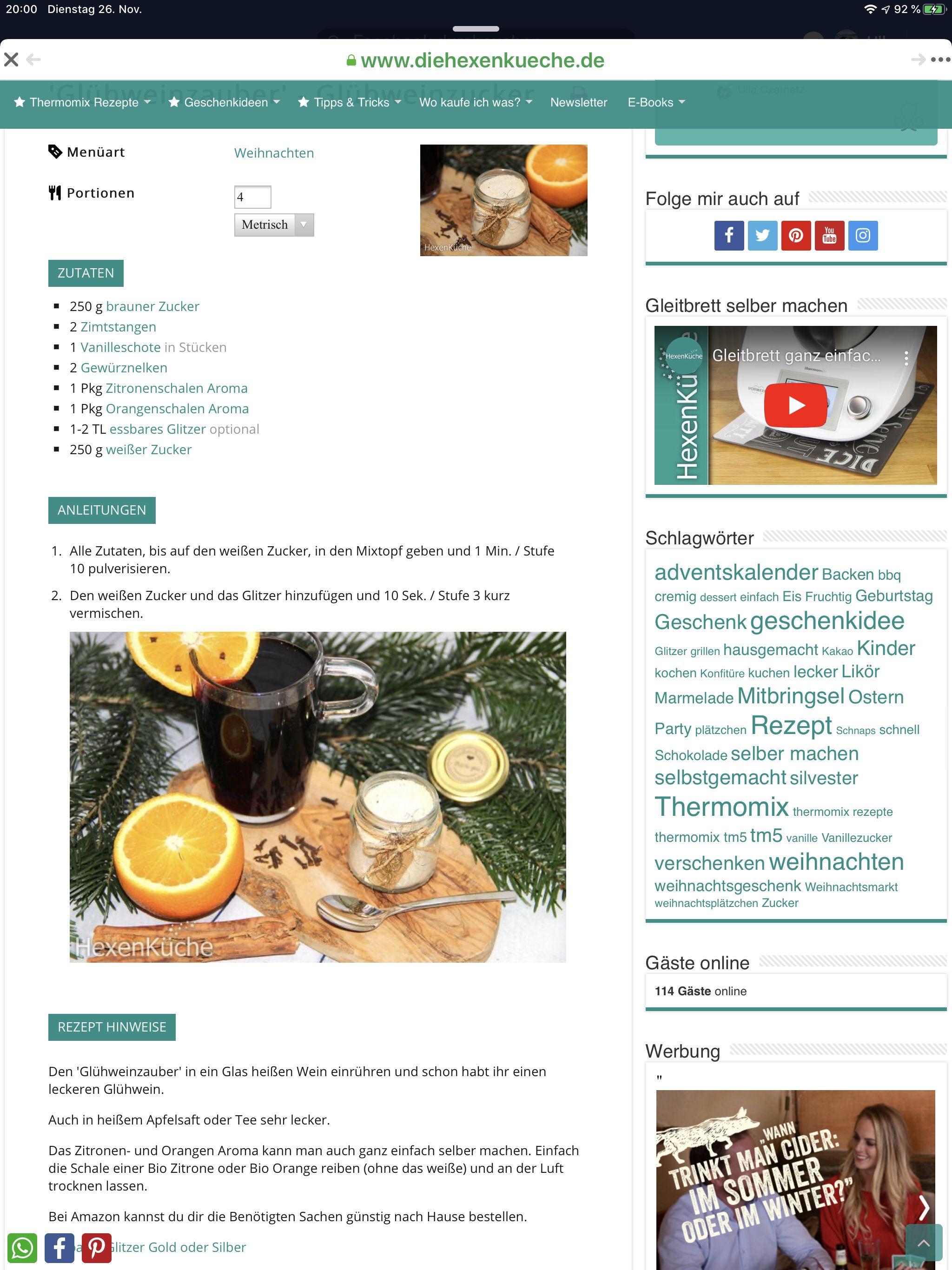 Pin Von Ulla Czernetz Auf Weihnachten 2019 Thermomix Rezepte Essbarer Glitzer Selber Machen