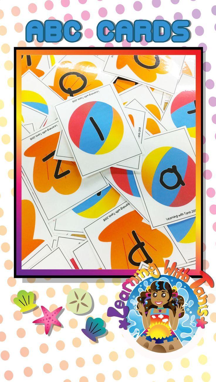 Alphabet cards_beach theme alphabet cards beach themes