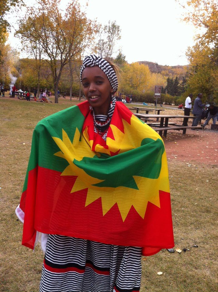 beauty, Oromo girl (Oromia, East Africa) with traditional