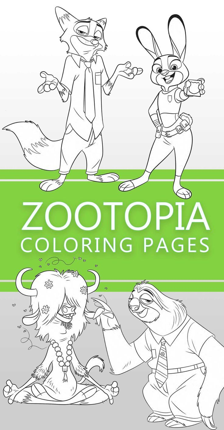 Zootopia coloring pages | Zootopia, Free printables and Printable ...